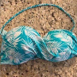 Turquoise bikini with removable strap